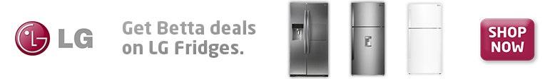 LG fridges banner