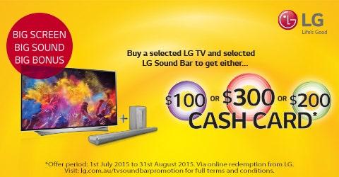 LG TV and Sound Bar Promo