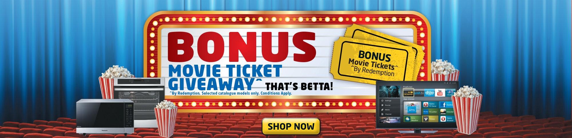 Bonus Movie Ticket Giveaway